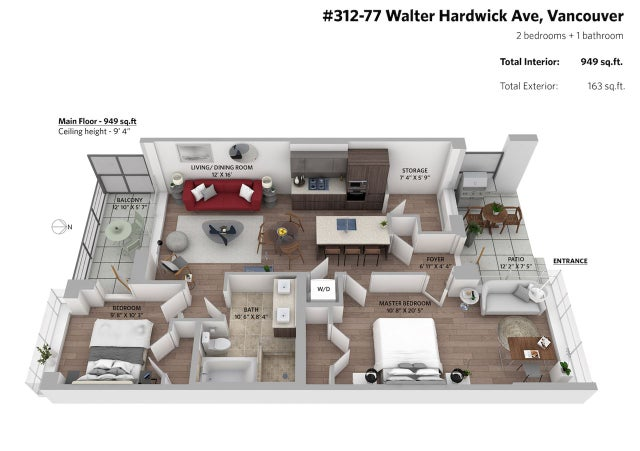 312 77 WALTER HARDWICK AVENUE - False Creek Apartment/Condo for sale, 2 Bedrooms (R2369015) #14